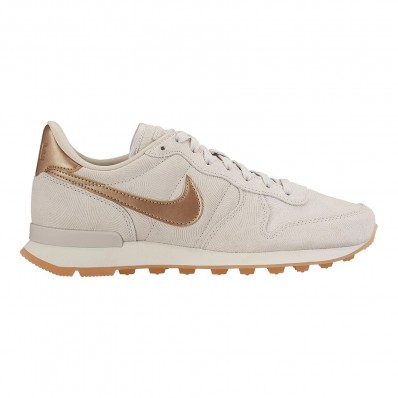nike internationalist femme beige or