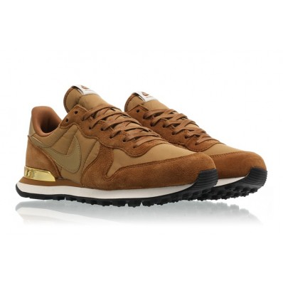 nike internationalist femme marron doré
