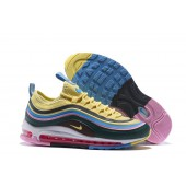 air max 97 jaune bleu rose