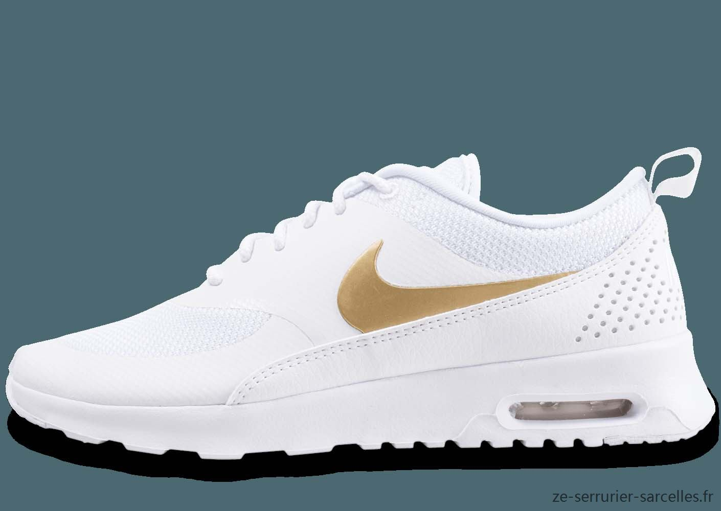 air max femme blanche et or
