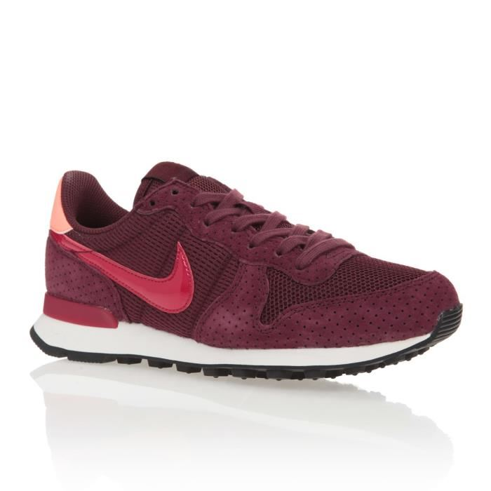 nike internationalist femme bordeaux et rose
