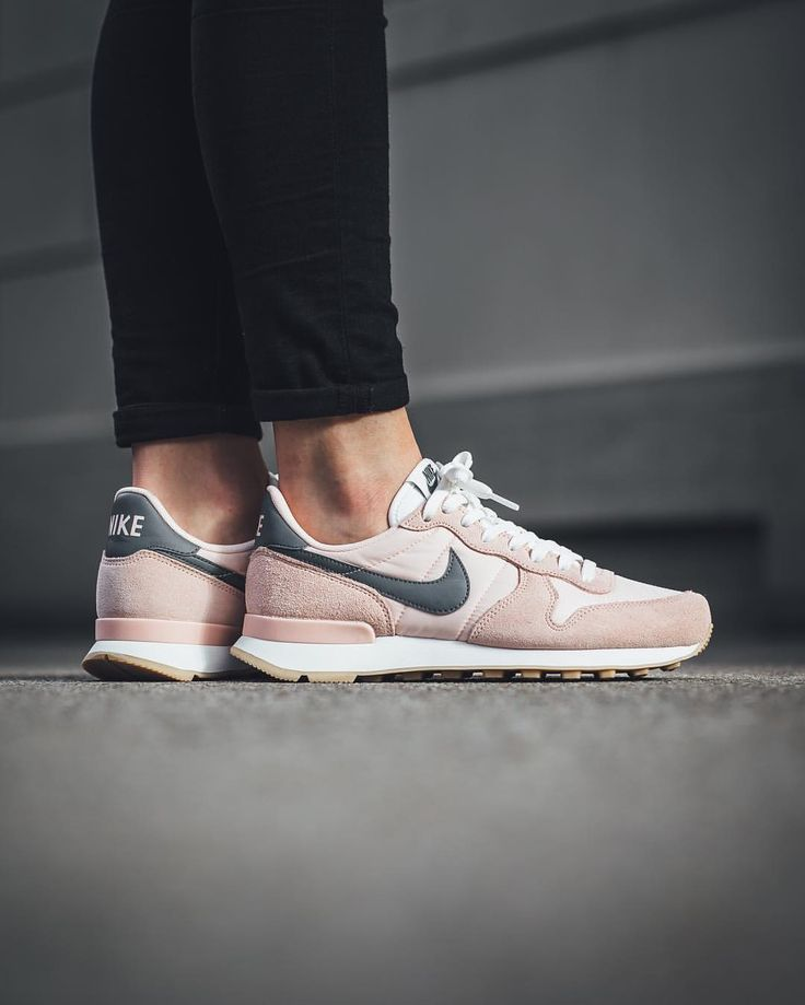 nike internationalist femme rose gris