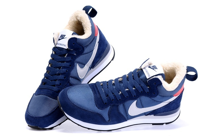 nike internationalist mid homme bleu